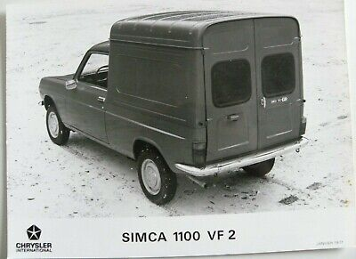 1 photo presse CHRYSLER SIMCA 1100 VF2 de 01 / 1977