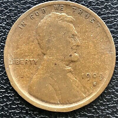 1909 S Wheat Penny Lincoln Cent 1c RARE Key Date San Francisco #14343