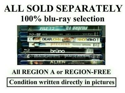 100% Blu-Ray Selection (Sold Separately) Some Region-Free & Some Region A Movies