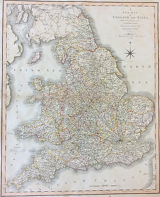 Map of England & Wales c1804 for Smith's New English Atlas, original engraved