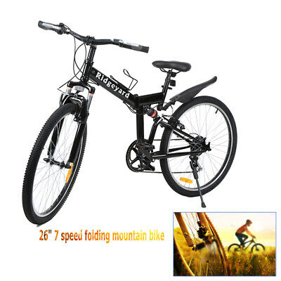 "26"" Men's 7-SP Fat Tire Mountain Bike Fat Bike Snow Sand Bicycle Fatbike"