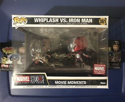 Funko Pop Marvel Collectors Corps:The first ten years Whiplash vs Iron Man