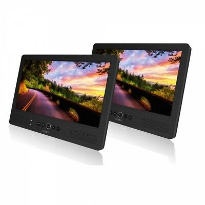 Reflexion DVD 1052 2 x 10,1 Inch Portable Television with 12/230V for Car Etc.