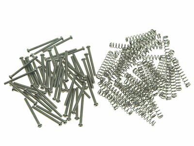 50Pcs Usa/Imperial Thread Humbucker Pickup Height Screws Guitar With Springs