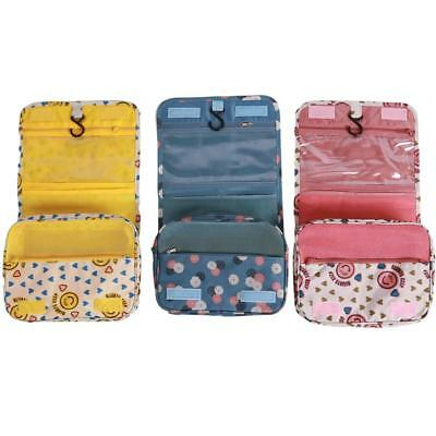 Travel Cosmetic Makeup Bag Toiletry Case Wash Organizer Storage Hanging Pouch BS