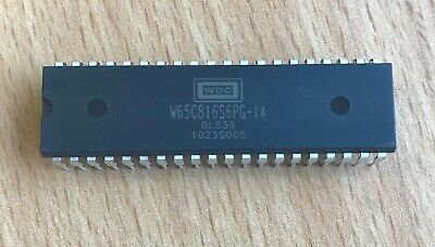 5 x Western Design Center W65C816S6TPG-14 (CMD / Rockwell) Microprocessor MPU