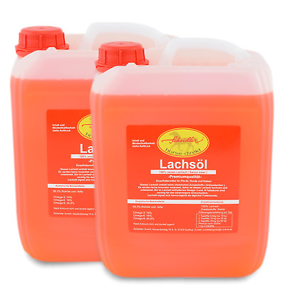 Lachsöl  2 x 5 L Kanister Made in Germany - reines Lachsöl  3,85€/1L