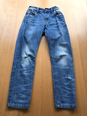Mantaray Boys Denim Jeans Age 9 Designer Faded And Worn Look