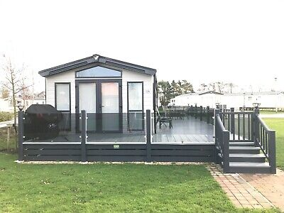 Caravan With Decking For Sale At Tattershall Lakes Lincolnshire Near Skegness
