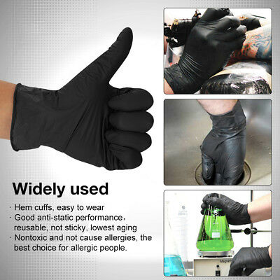 500/1000X Black/Blue Nitrile Powder&Latex Free Disposable Gloves Tattoo Mechanic