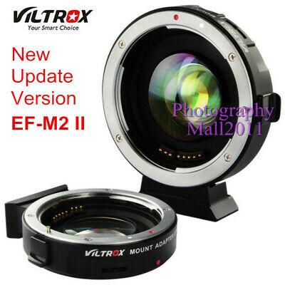 Viltrox EF-M2 II Auto Focus Adapter 0.71x Aperture for Canon EOS EF Lens to M43