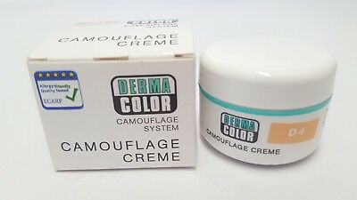 Derma Color Camouflage Creme 30g - D4 - Boxed and Unused - dermacolor