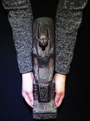 Egyptian Antiques Antiquities God Anubis Jackal Head Dog Statue 2686-2181 Bc