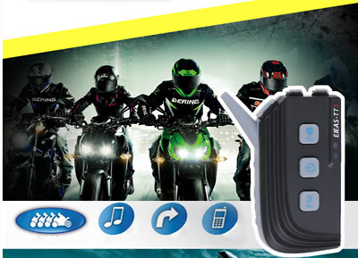 EJEAS -TTS 1200m Motorcycle Bluetooth Riding Intercom FM Radio Waterproof 500mAh