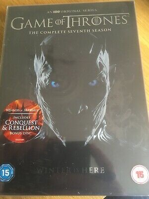 Game of Thrones Seventh 7 Season DVD with Conquest & Rebellion Disc - NEW SEALED