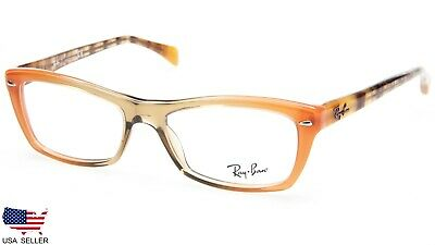 88e0402740 NEW Ray Ban RB5255 5487 GRADIENT BROWN ORANGE EYEGLASSES FRAME 51-16-135  B32mm