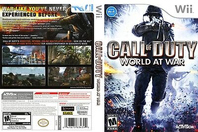 Call of Duty World at War (WII) REPLACEMENT CASE, NO GAME