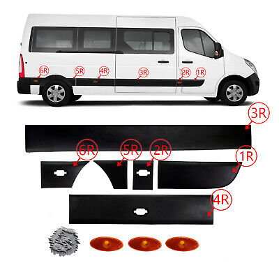 Renault  Master 2010-2016 Side Moulding with Side Marker Lamp Right Sıde