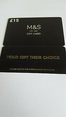 Marks and Spencer M&S Gift Card £15 ..Free Postage