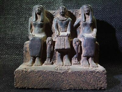 Egyptian Antiques Antiquities Priest Ptahmai Family Sculpture 1304-1214 Bc