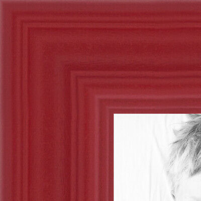 """ArtToFrames Custom Picture Poster Frame  Red Stain on Oak  1"""" Wide Wood"""