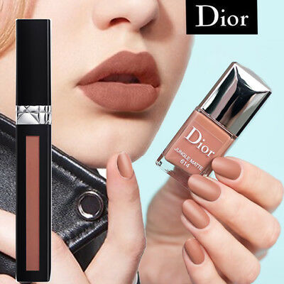 DIOR #614 JUNGLE MATTE Rossetto Liquido + Smalto Liquid Lipstick Nail Varnish