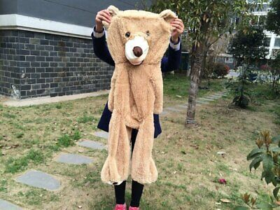 Cute 1.6M/160CM Light Brown Giant Skin Teddy Bear Big Stuffed Toy(Only cover)