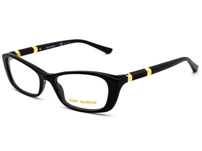1d6953416f989 Tory Burch Eyeglasses TY 2054 1377 Black Gold Rectangular Frame 50  17 135