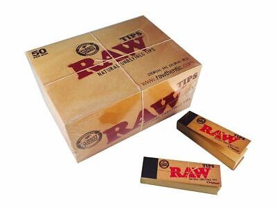 100% Genuine Raw Rolling Paper Tips Roach Cigarette Papers