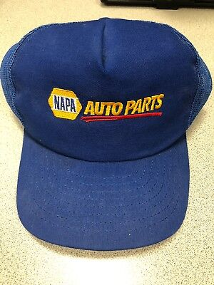 7b31f619d70 Baseball Cap NAPA Auto Parts vintage snapback mesh Hat Trucker Blue Yellow