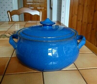 Denby Imperial Blue Lidded Tureen / Casserole Dish with side Handles
