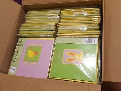Job Lot Easter Cards & Envelopes 2 Designs,Greeting Cards ☆NEW☆ x 80 Packs