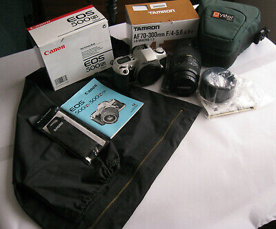 Canon EOS 500N 35mm Camera with a Tameron AF70 - 300mm f4 -5.6 Di lens + some ex
