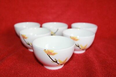 Wedgwood ~ The Painted Garden Design ~ Oriental Saki Tea Cups X 6
