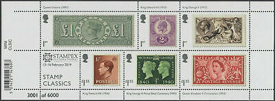 STAMP CLASSICS Miniature Sheet 2019 Spring STAMPEX OVERPRINT LIMITED EDITION