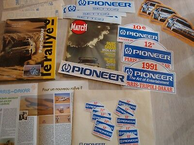 INTROUVABLE PARIS - DAKAR Rallye Pub's PIONEER ! 1991 PIONEER & PLUS !