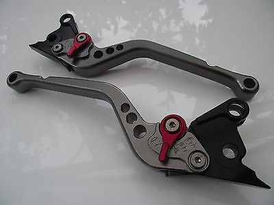 Ducati ST3/S/ABS (2003-2007), CNC levers long titanium/red adjusters, DB80/DC80