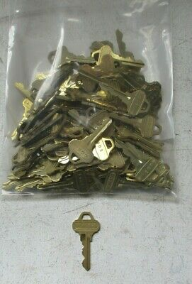 Lot Of 97 Schlage Lock Cylinder Cut Keys Ad03 C123 Nos Free Shipping
