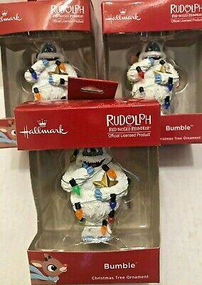 Hallmark Bumble Christmas Tree Ornament Rudolph the Red Nosed Reindeer New