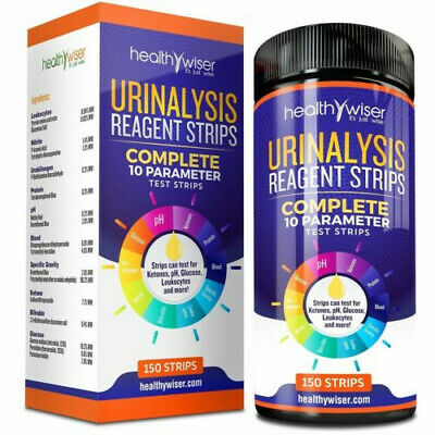 HealthyWiser Urinalysis Reagent Urine Test Strips 10 Parameters 100 Strips 05/20