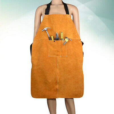 1PCS Leather Welding Apron Thicken Wear-resistant Anti-scalding Protective Apron