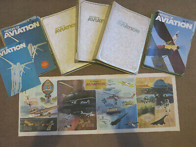 History of Aviation Series 72 Magazines in 3 Binders all Covers & Wall Chart