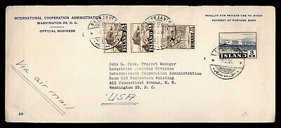DR WHO 1953 ICELAND OFFICIAL INTERNATIONAL COOPERATION ADMIN TO USA  d94400