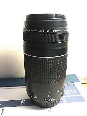 Canon Zoom Telescoping Lens EF 75-300mm 1:4-5.6 III Used