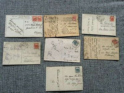 Estonia - seven older postcards - all with stamps