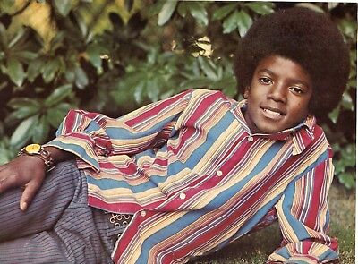 Michael Jackson Pinup Clipping 70's Jackson 5 Young On The Ground