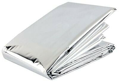 Emergency Thermal Silver Foil Survival Sports Blanket - Full Adult Size -