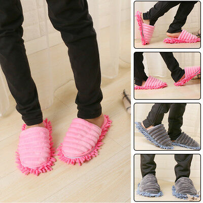 A pair Mop Slippers Lazy Floor Foot Socks Shoes Quick Polishing Clean Dust