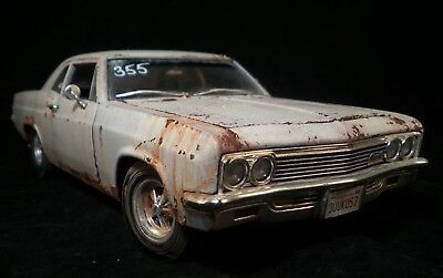 1966 Chevy Biscayne Drag Barn Find Unrestored Weathered Custom ERTL 1/18 OOAK