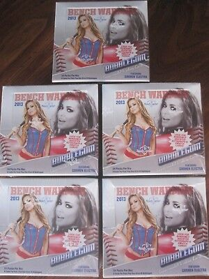 Factory Sealed 5 Box Lot - 2013 Benchwarmer Bubblegum Female Model Cards
